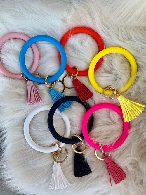 First Outlook Silicone Bangle Keychain - Multiple Color Options