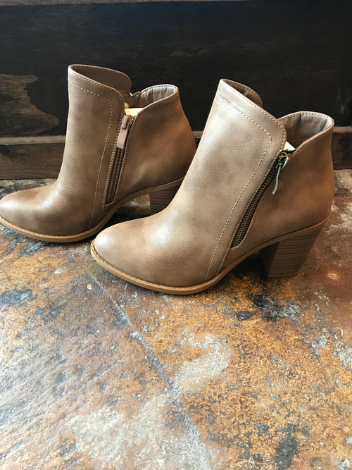 Walking Away Khaki Booties