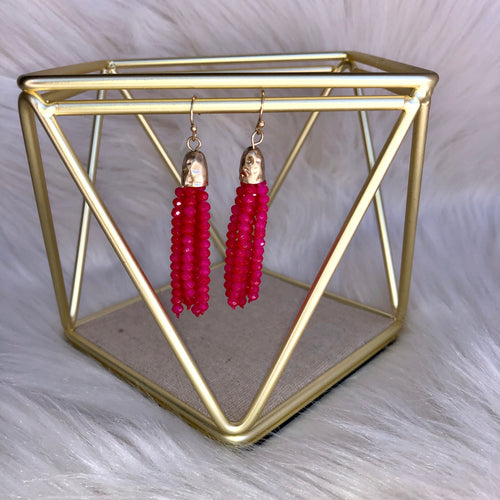 The Jordyn Beaded Dangle Earring- Multiple Color Options