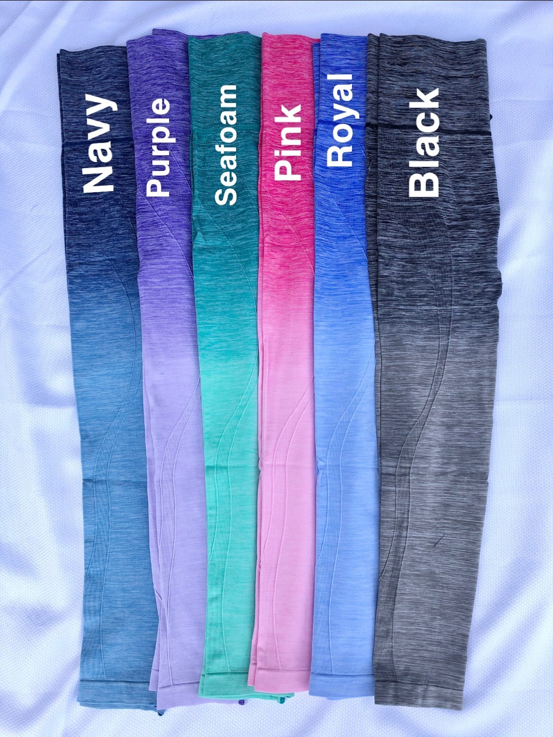 By The Bae Ombre Dip Dye High Waisted Legging with Contrast Stitching- Multiple Options