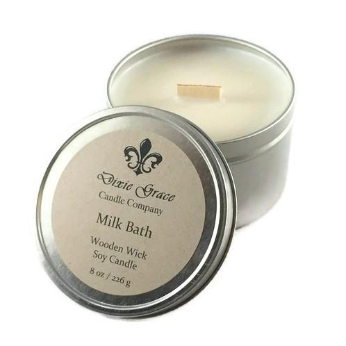 Milk Bath 8 oz Tin Candle
