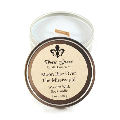 Moon Over The Mississippi Candle
