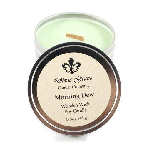 Morning Dew 8 oz Tin Candle