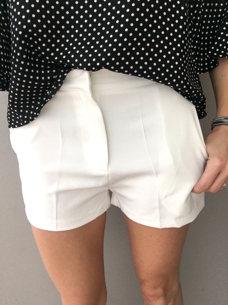Tailored For You White Shorts