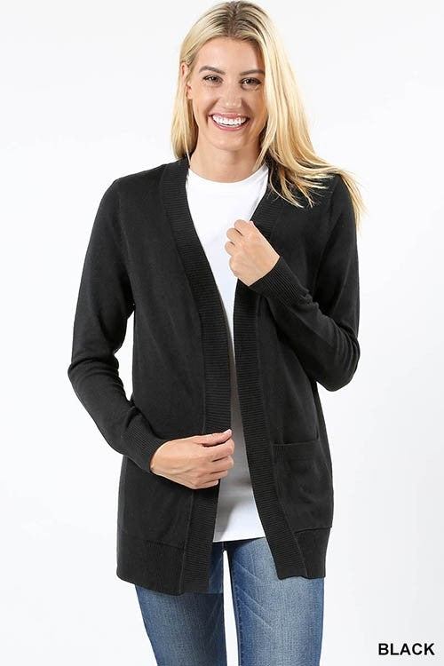 Ever So Cozy Cardigan Plus- Black
