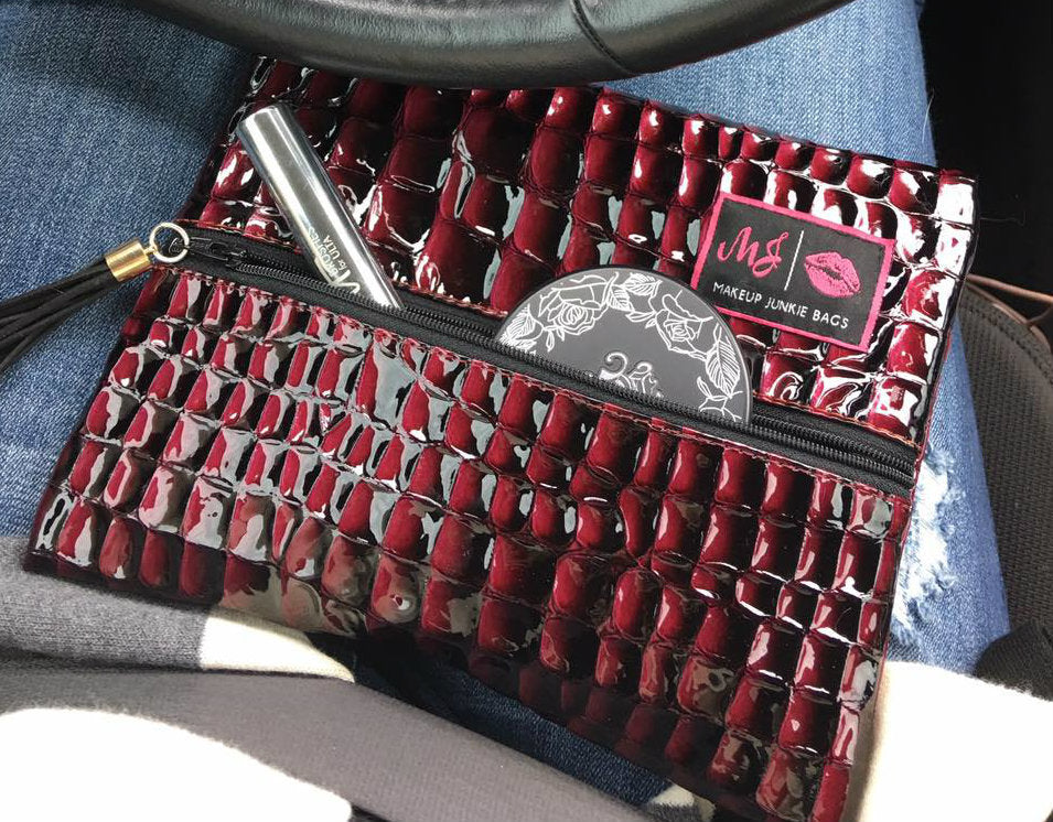 Cabernet Makeup Junkie Bag (small)
