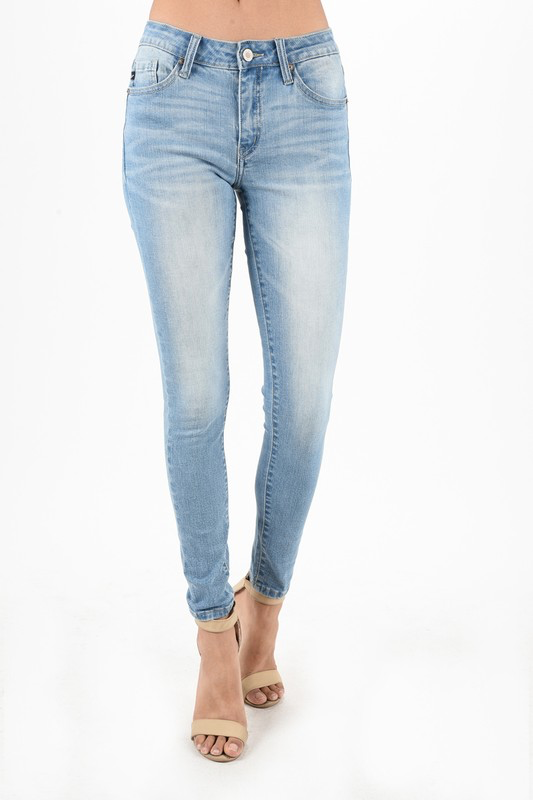 Bring Me Up Light Wash Non Distressed Skinny Jeans