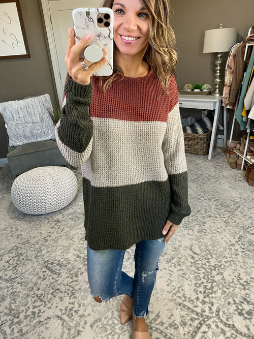 Before You Go Colorblock Knit Sweater-  Multiple Options