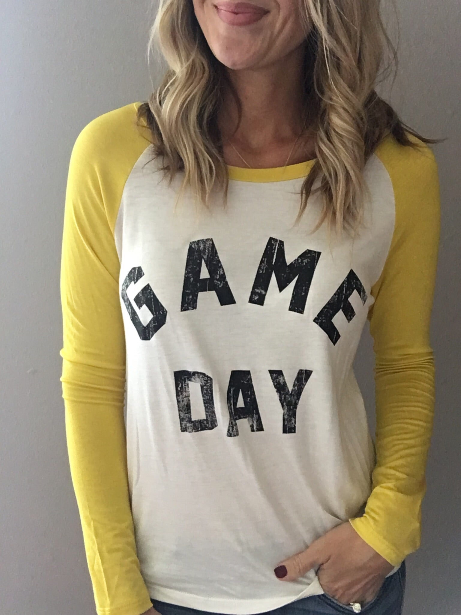 Game Day long sleeve in Yellow