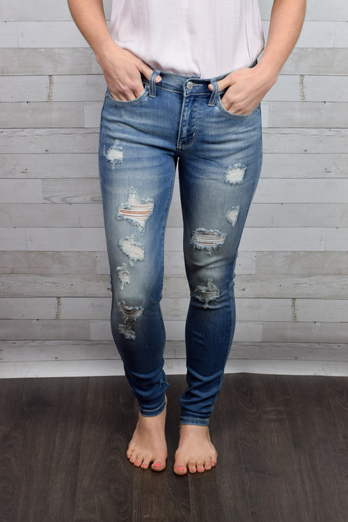 Perfect Day Distressed Skinny Jeans