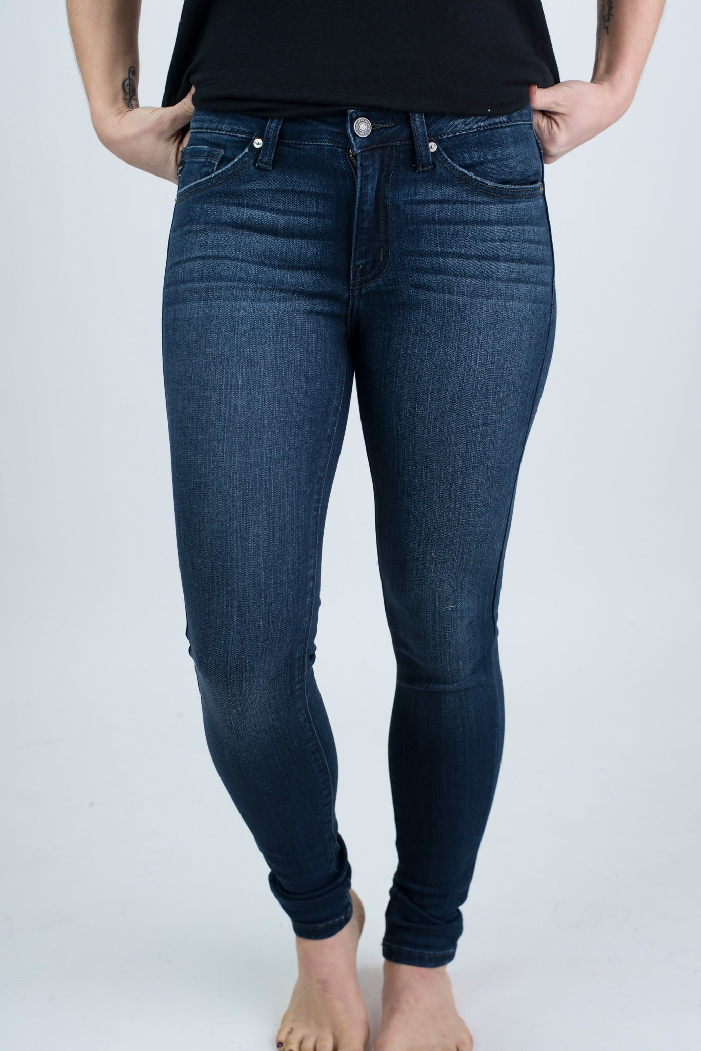 Breaking Records Non Distressed Dark Wash Skinny Jeans
