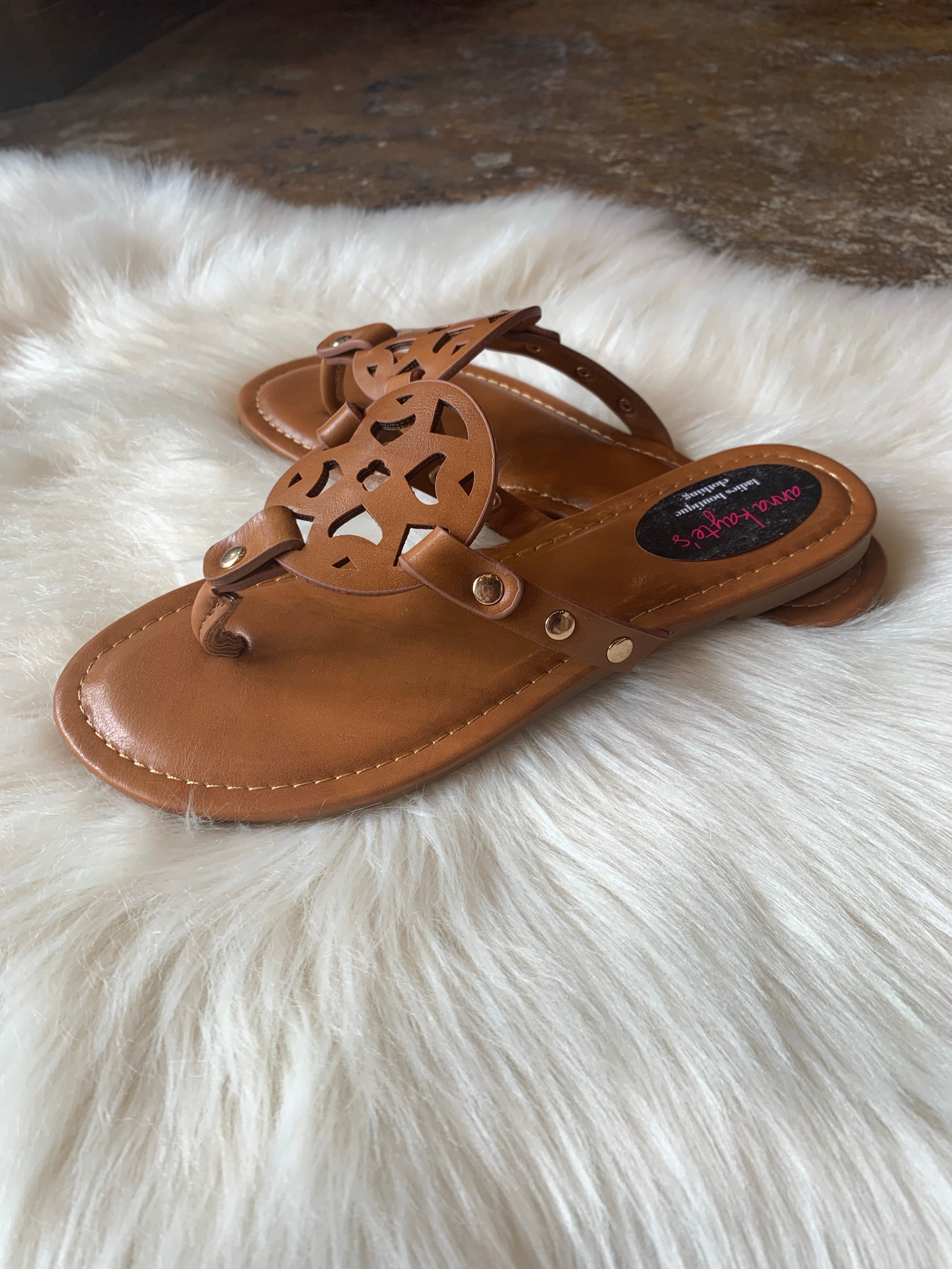 Travel Bound Inspired Tan Sandals