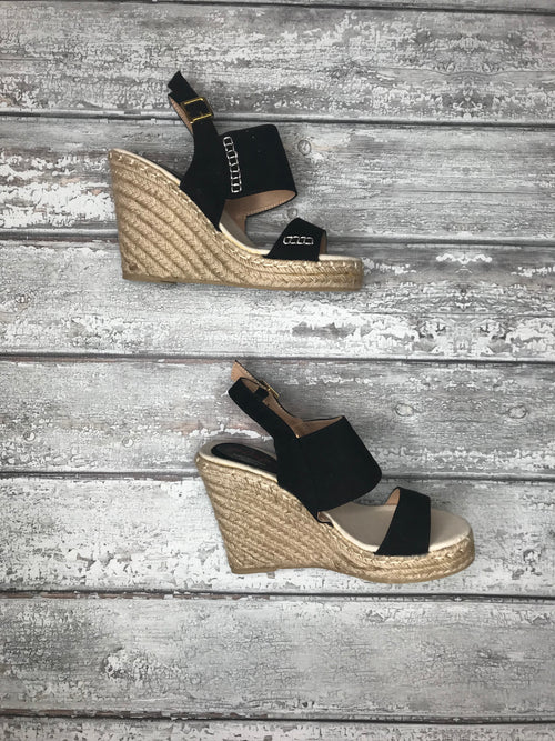 Going The Distance Black Wedges