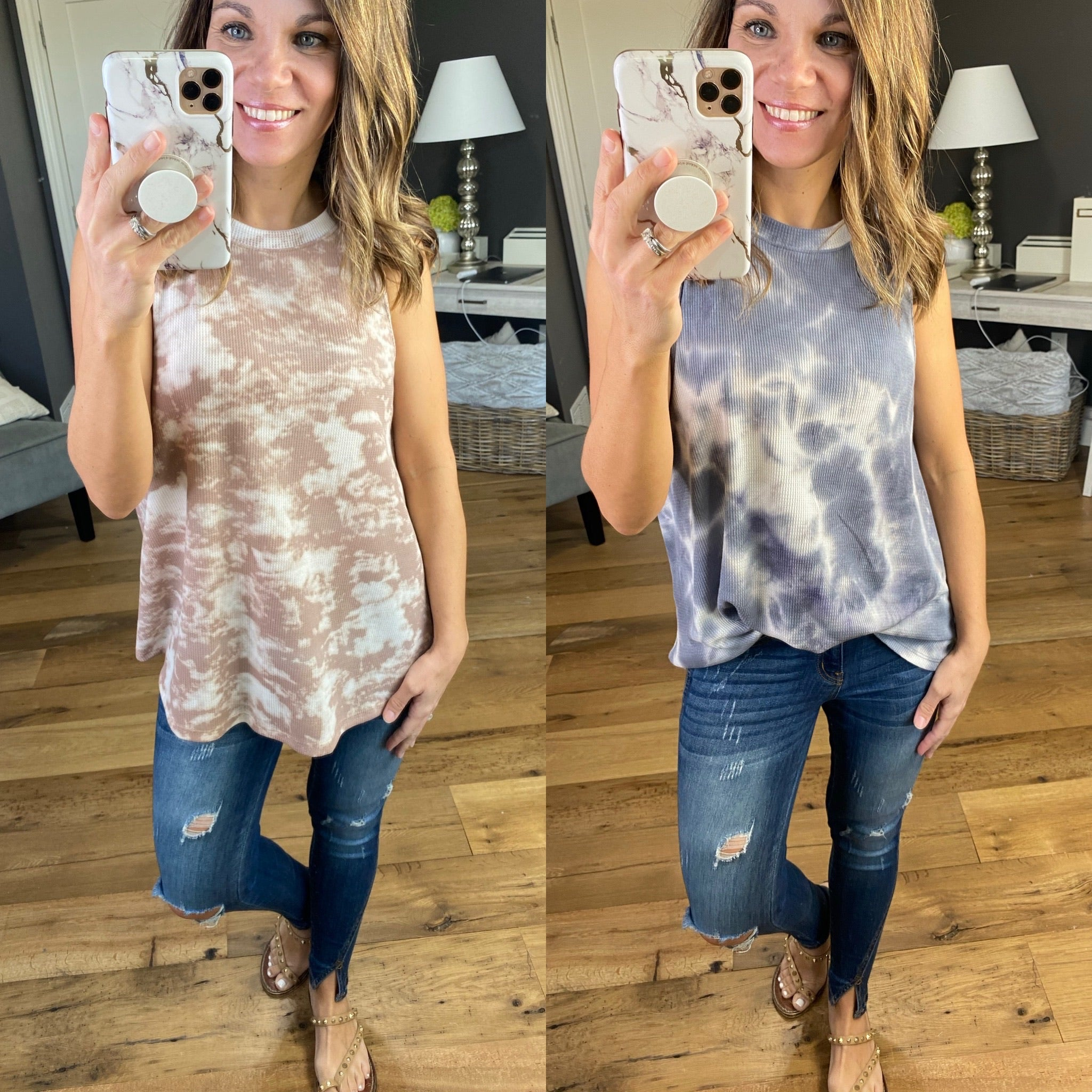 How Sweet It Is Marble Sleeveless Top, Multiple Options
