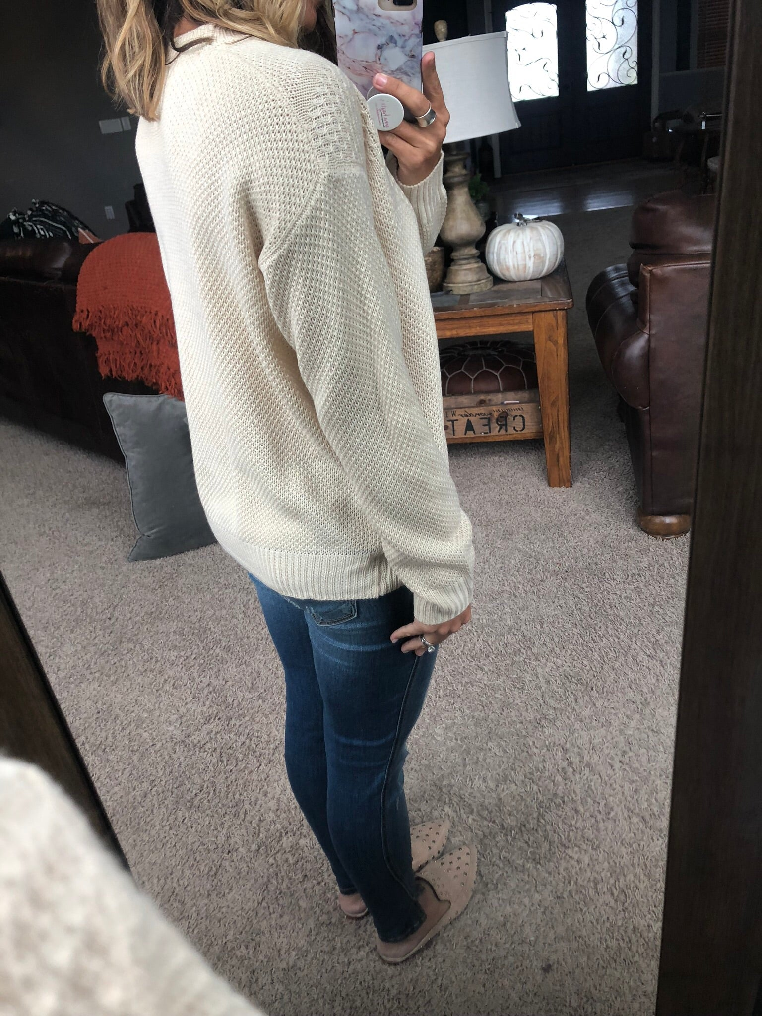 It's Always A Classic Knit Sweater - Oatmeal