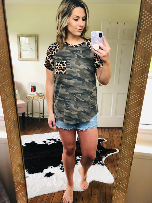 Moments With You Cheetah & Camo Tee