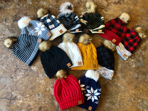 You Should See Me In A Crown Knit Beanie- Multiple Options