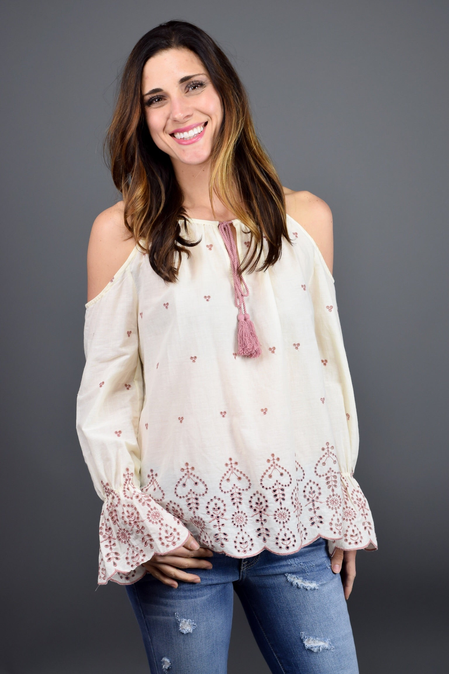Fair Affair Cold Shoulder Top