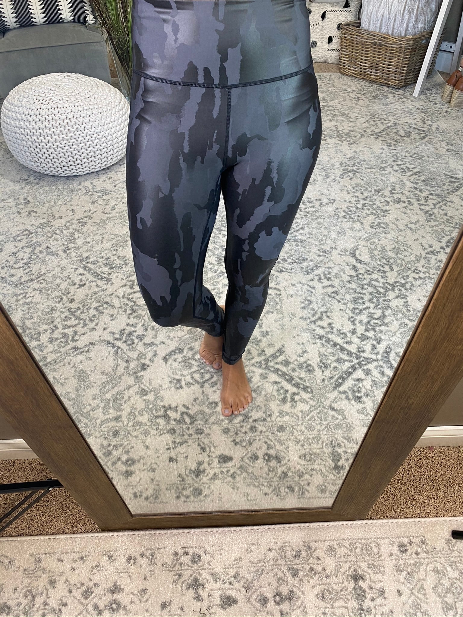 Wild About You Camo Leggings- Charcoal/ Black Mix