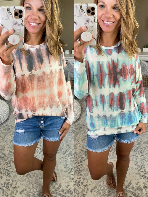 Game For Two Tie Dye Long Sleeve- Multiple Options