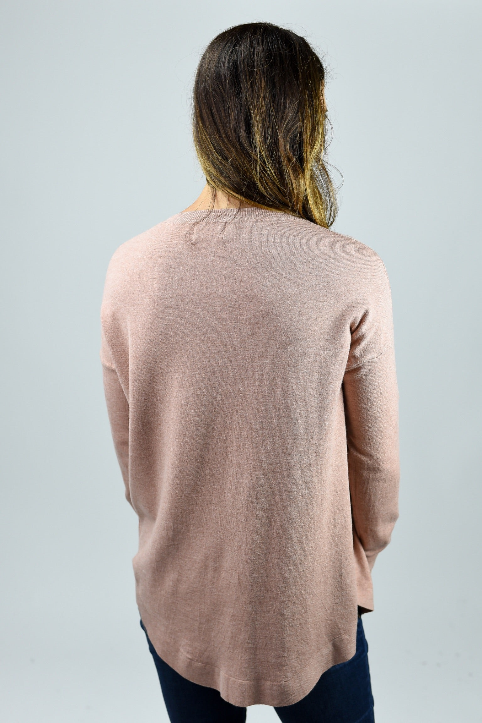 Only The Best Vneck Sweater- Rust