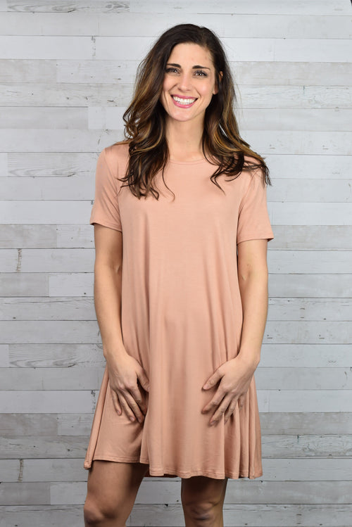 In All The Right Ways Swing Dress - Peach