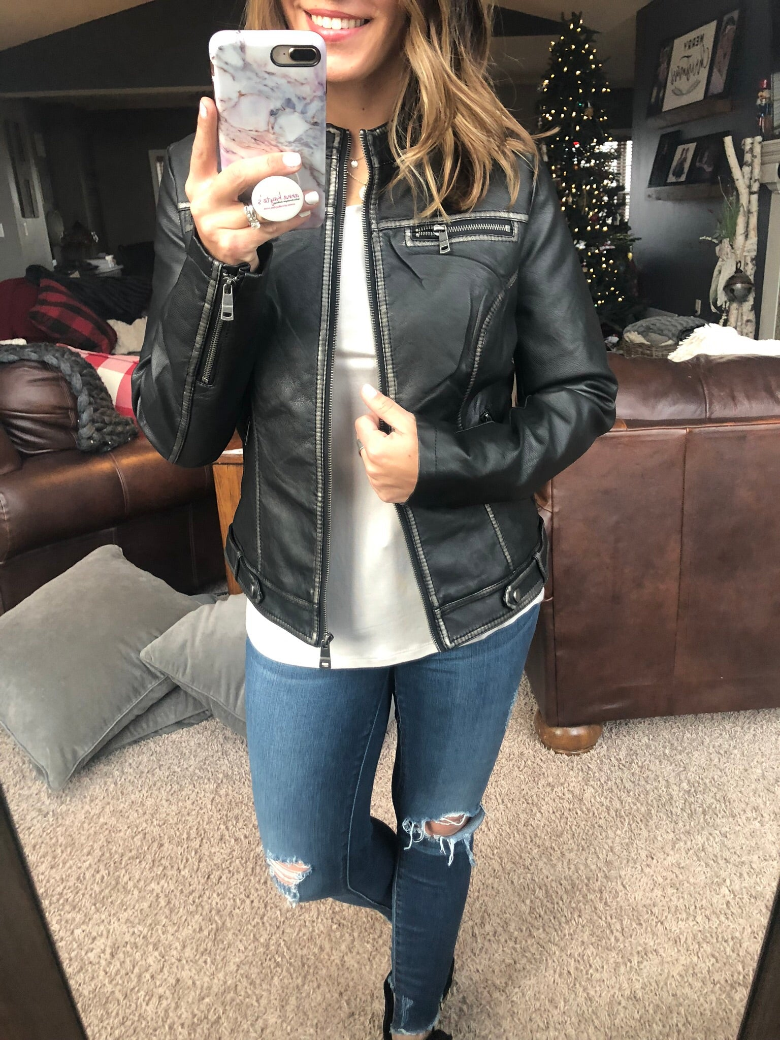 Right To Dream Faux Leather Black Jacket