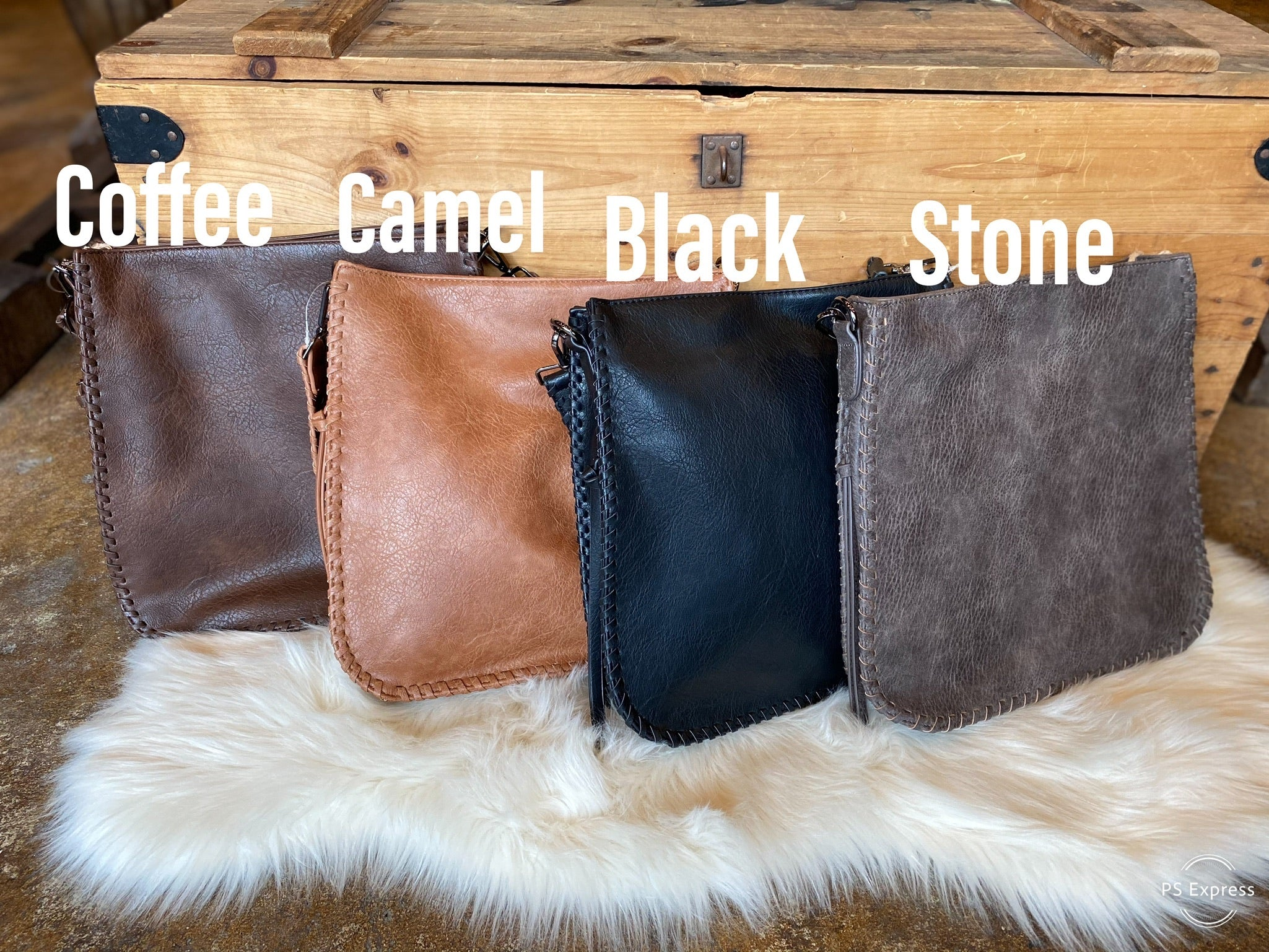 Always On Time Square Vegan Leather Purse- Multiple Options