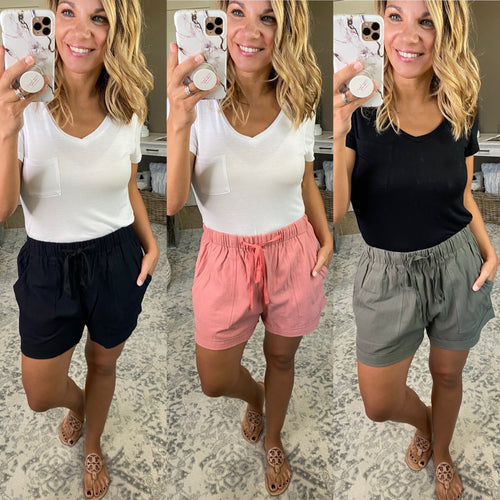 Common Love Everyday Shorts with Drawsting- Multiple Options