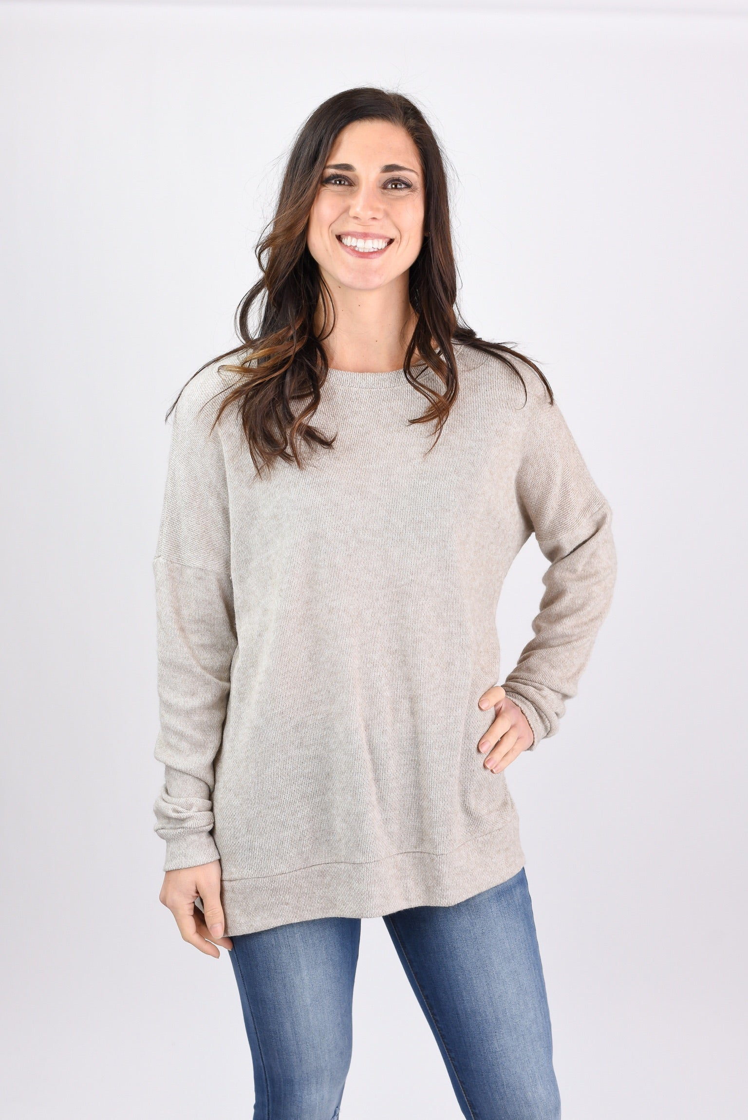From The Start Lightweight Crew Neck Long Sleeve - Oatmeal