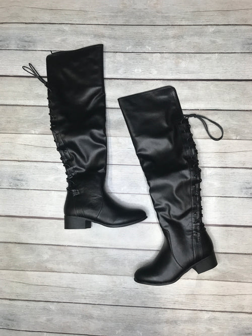 Leading The Way Lace Up Over The Knee Boots