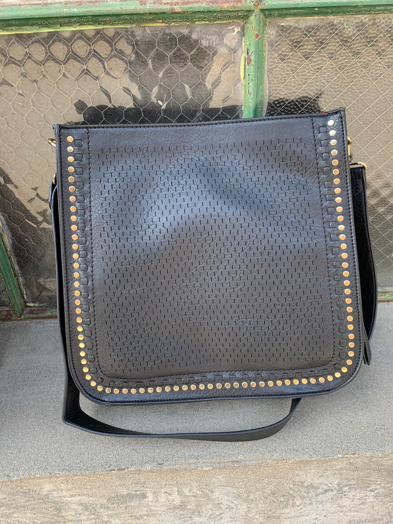 Bullet Points Gold Studded Square Bag