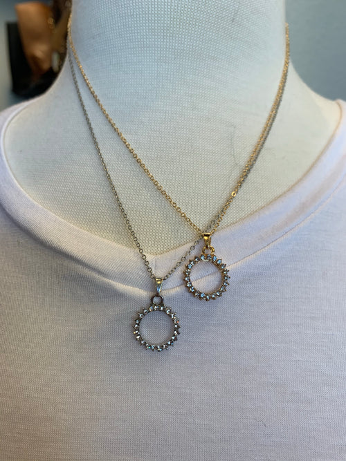 Circle of Love Rhinestone Necklace