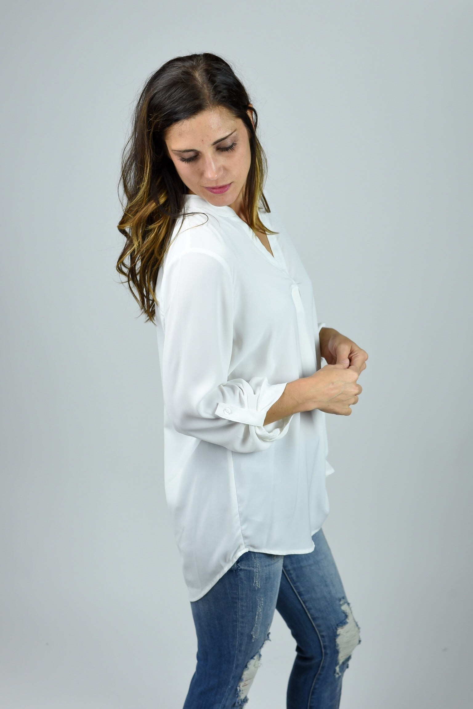 Boss Babe Ivory 3/4 Sleeve Blouse