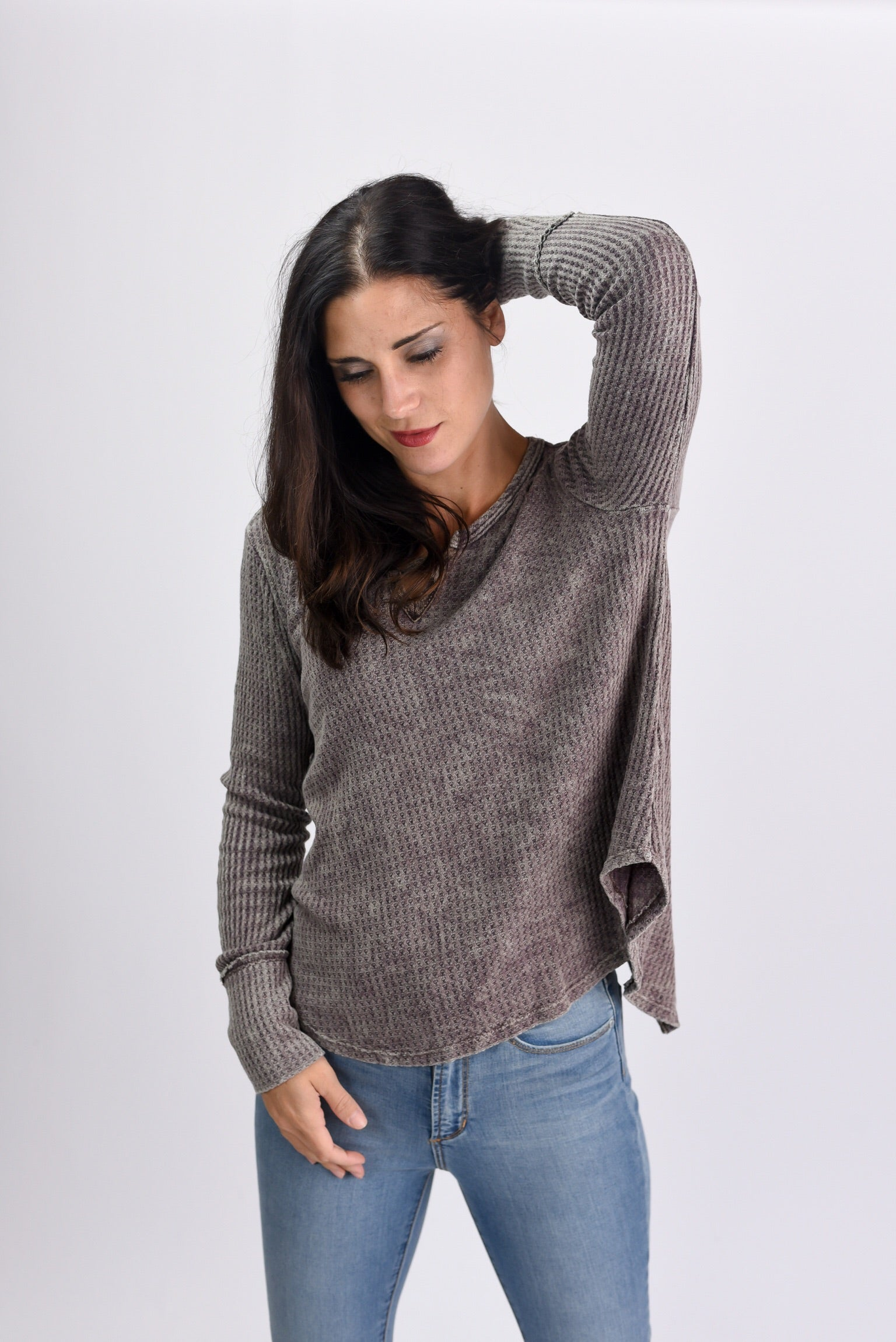 Record Time Vneck Thermal Top