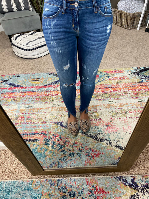All My Love Distressed Ankle Skinny Jeans