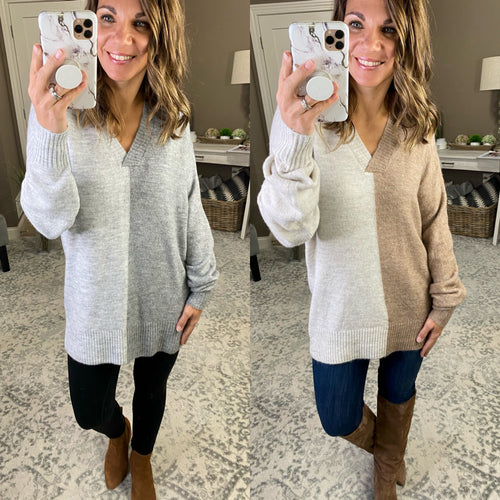 Wishing You Well Knit V Neck Sweater- Multiple Options