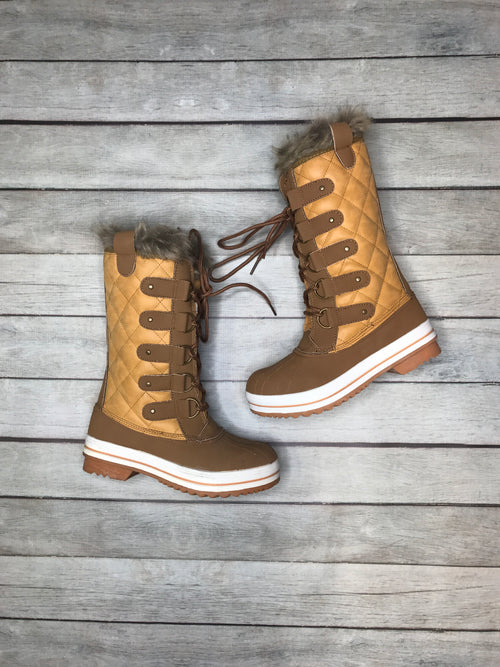 Winter Ready Tan Boots