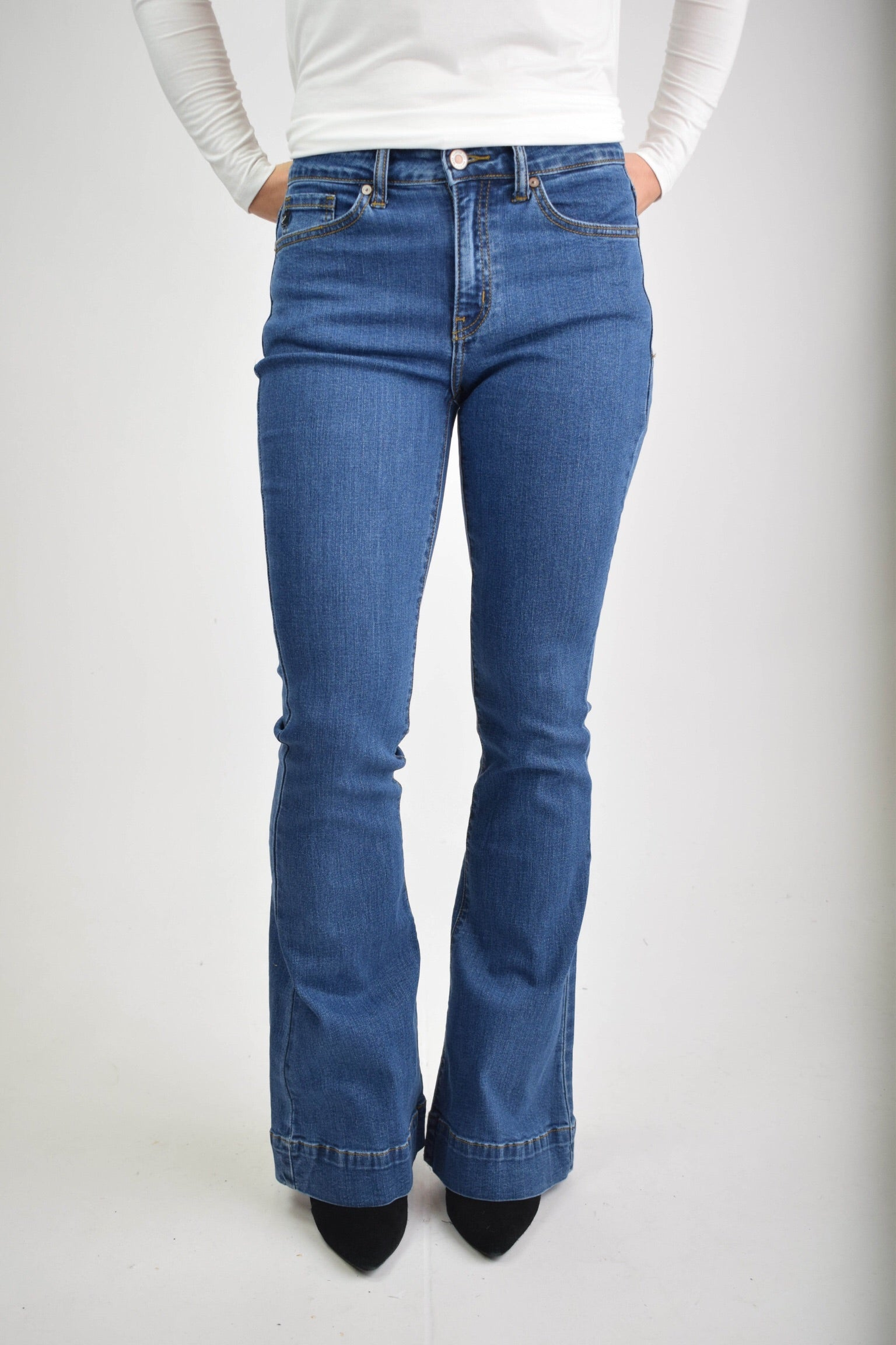 Breaking All The Rules Non Distressed Flare Jean