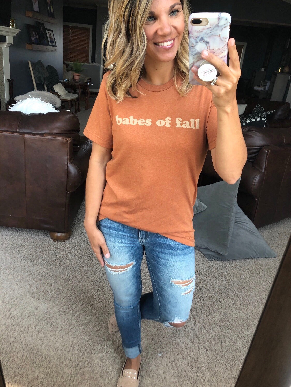 Babes of Fall Rust Graphic Tee