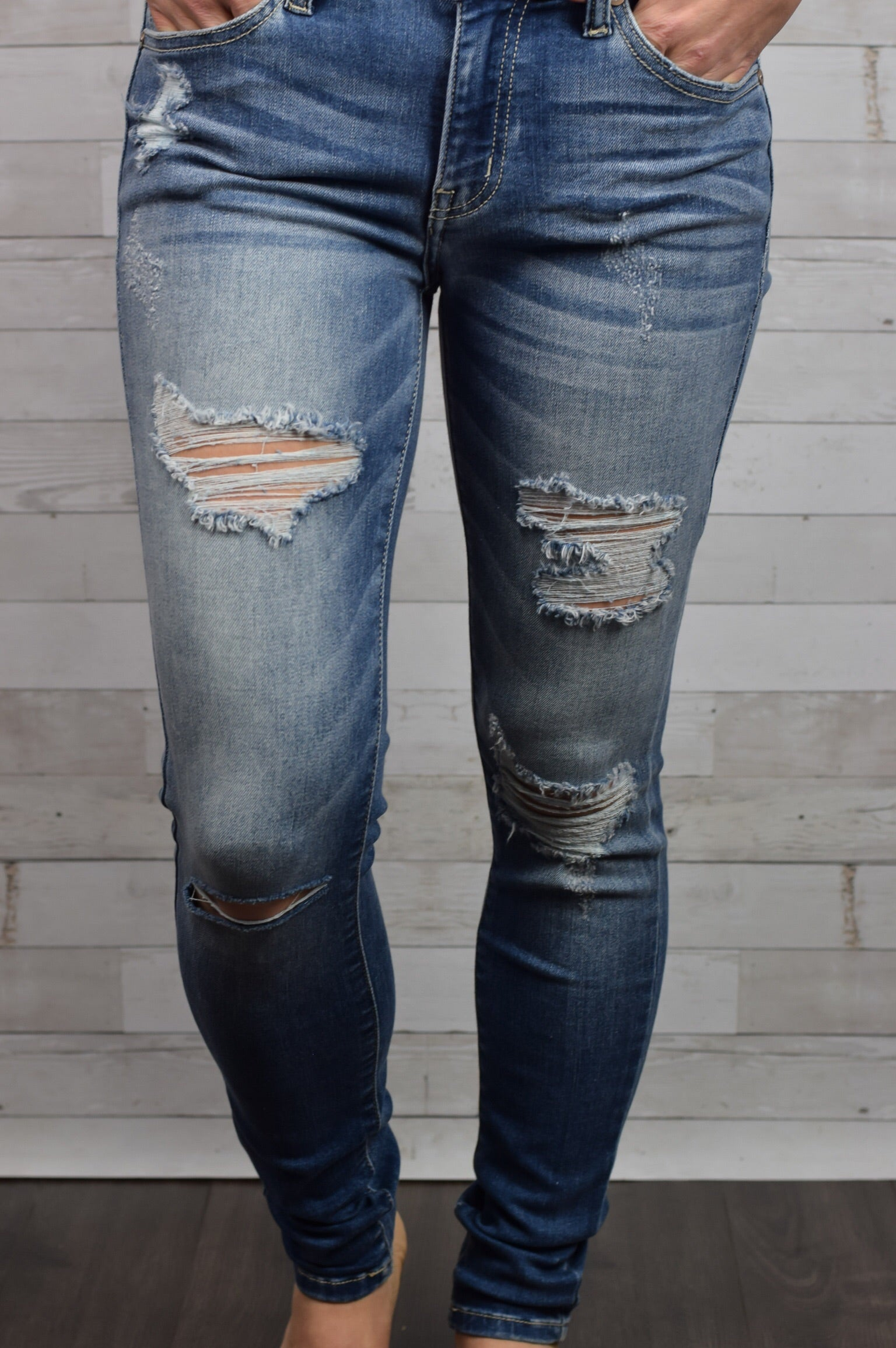 Say Something Distressed Skinny Jeans