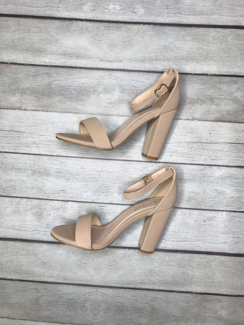 Taking On The World Taupe Chunky Heel