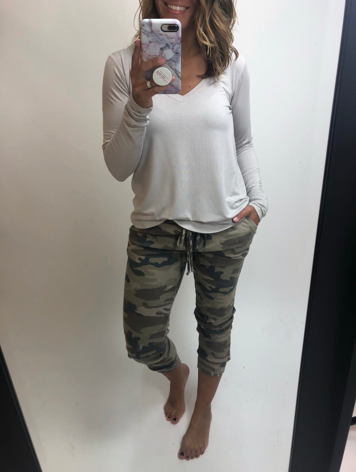 Totally Wrapped Up In You Camo Joggers