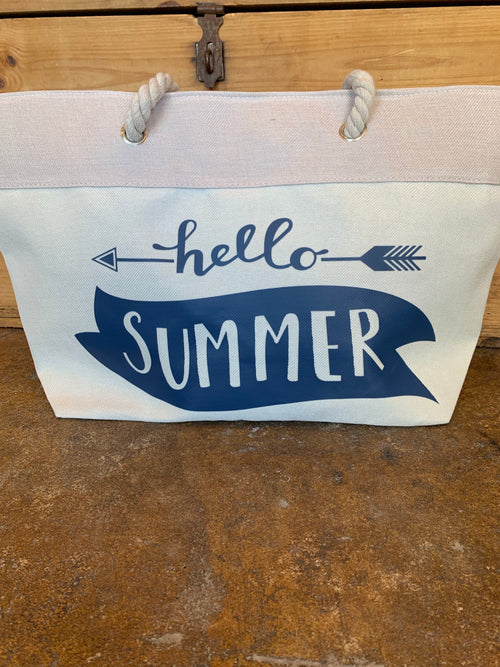 Hello Summer Carry All Beach Bag