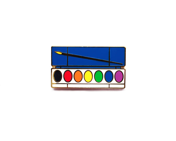Watercolor Paint Palette Enamel Pin