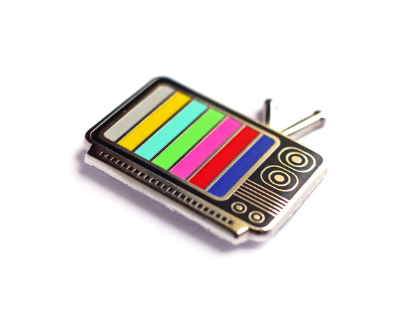 Retro TV Enamel Lapel Pin