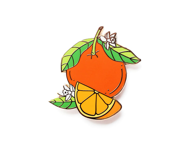 Florida Oranges Enamel Lapel Pin