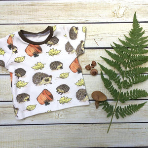 Hedgehog Fun Organic T-Shirt - Little Green Bird