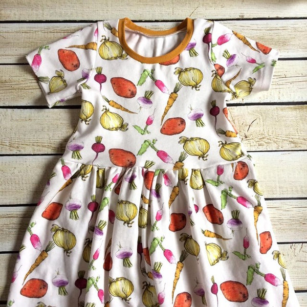 Garden Medley Organic  Dress - Little Green Bird