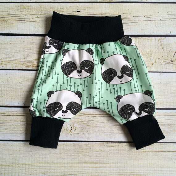 Mint Panda Organic Knit Joggers - Little Green Bird